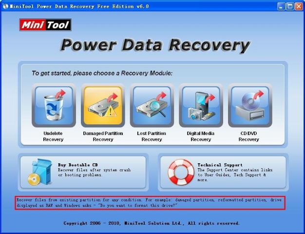 MiniTool: Excellent crash corrupted file recovery software