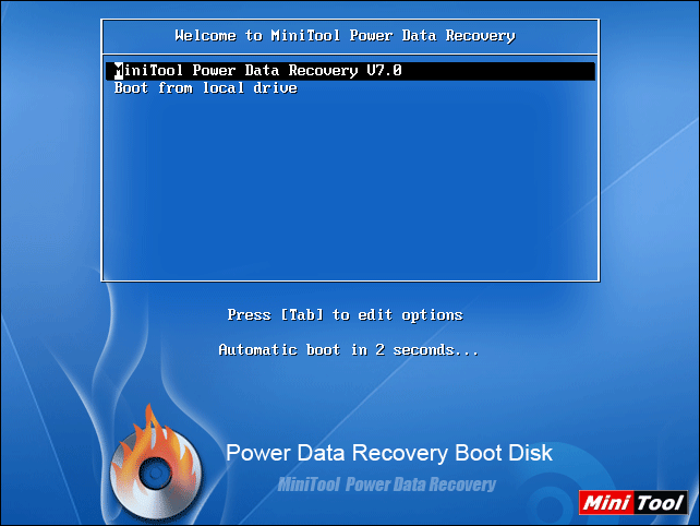 A data recovery boot disk.