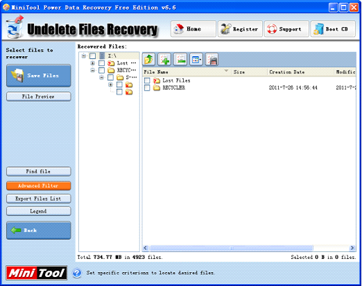 how to bring back deleted files