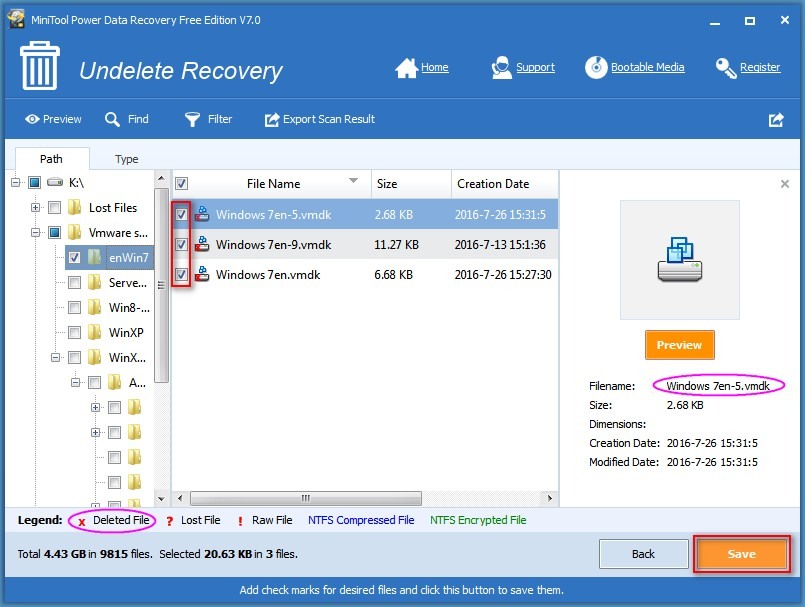 Recover data from VMware disk 5