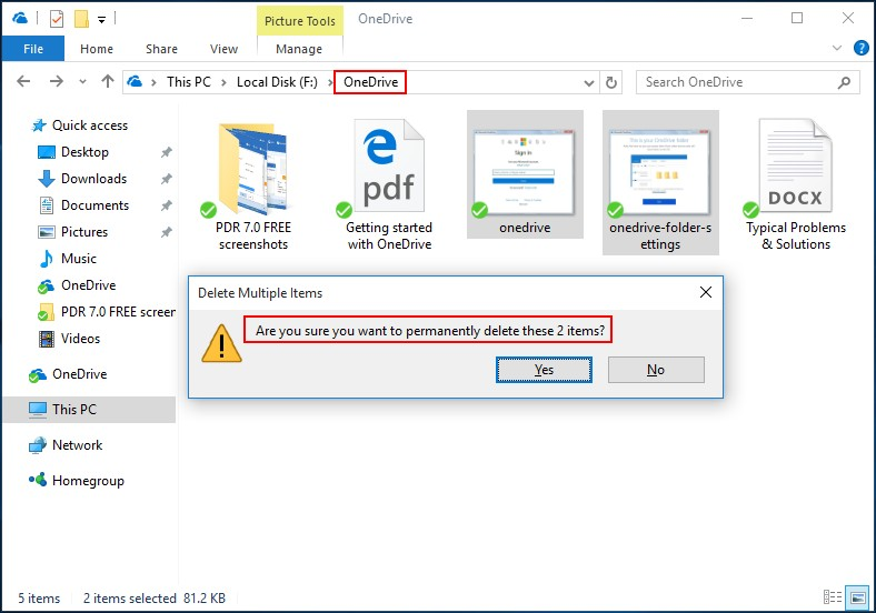 Recover permanently deleted pictures from OneDrive 1