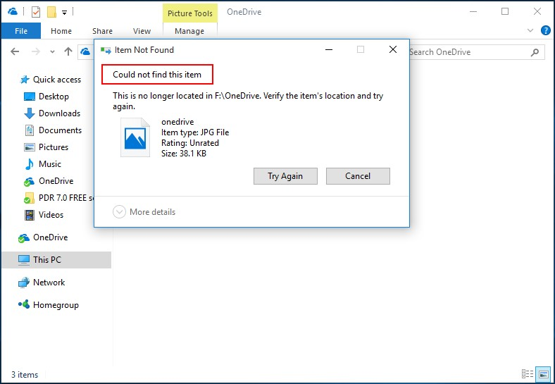 Recover permanently deleted pictures from OneDrive 2