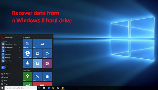 Recover data from a Windows 8 hard drive 1