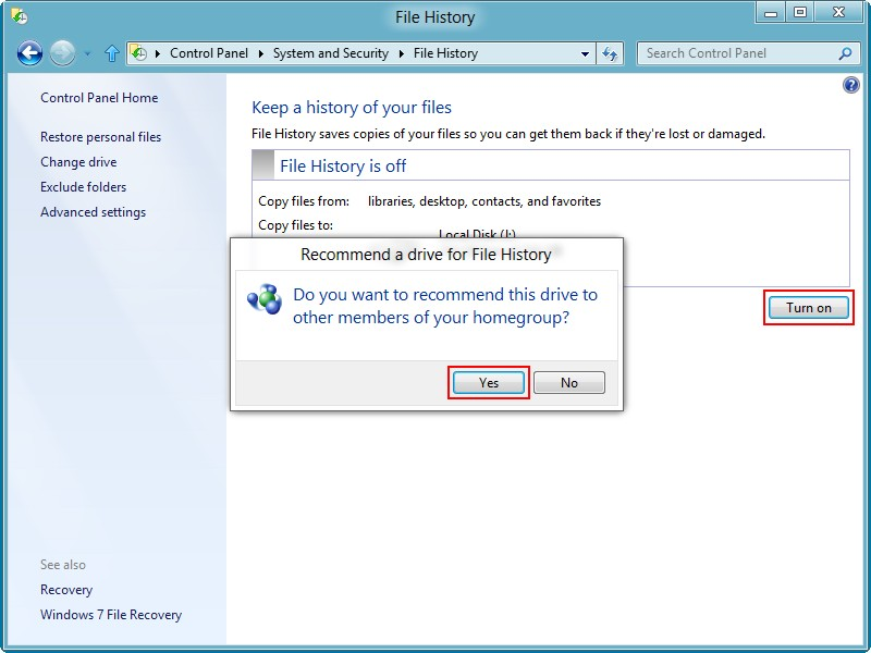Recover data from a Windows 8 hard drive 12