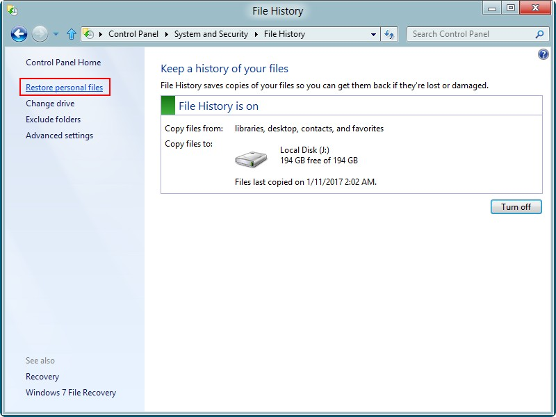 Recover data from a Windows 8 hard drive 14