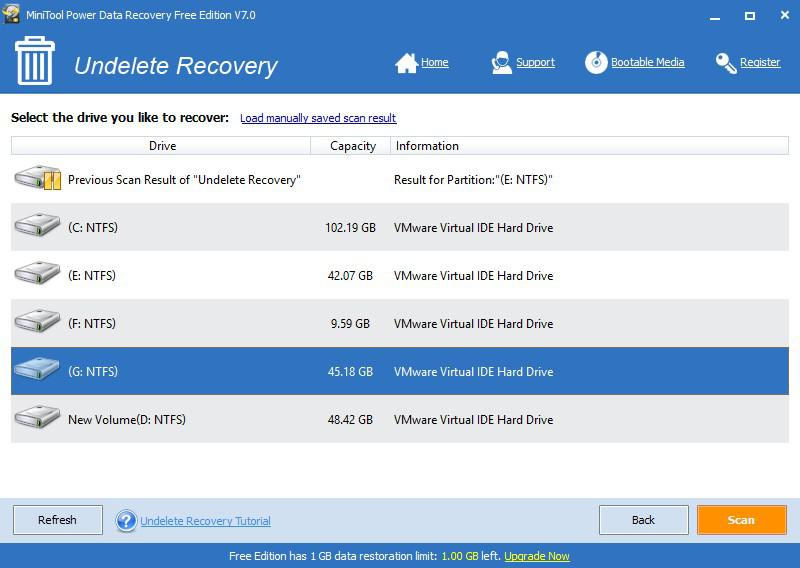 Recover file from hard disk 6