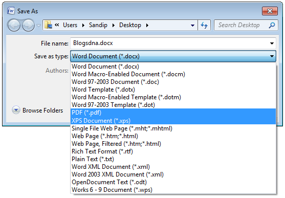 Recover deleted Word document 6