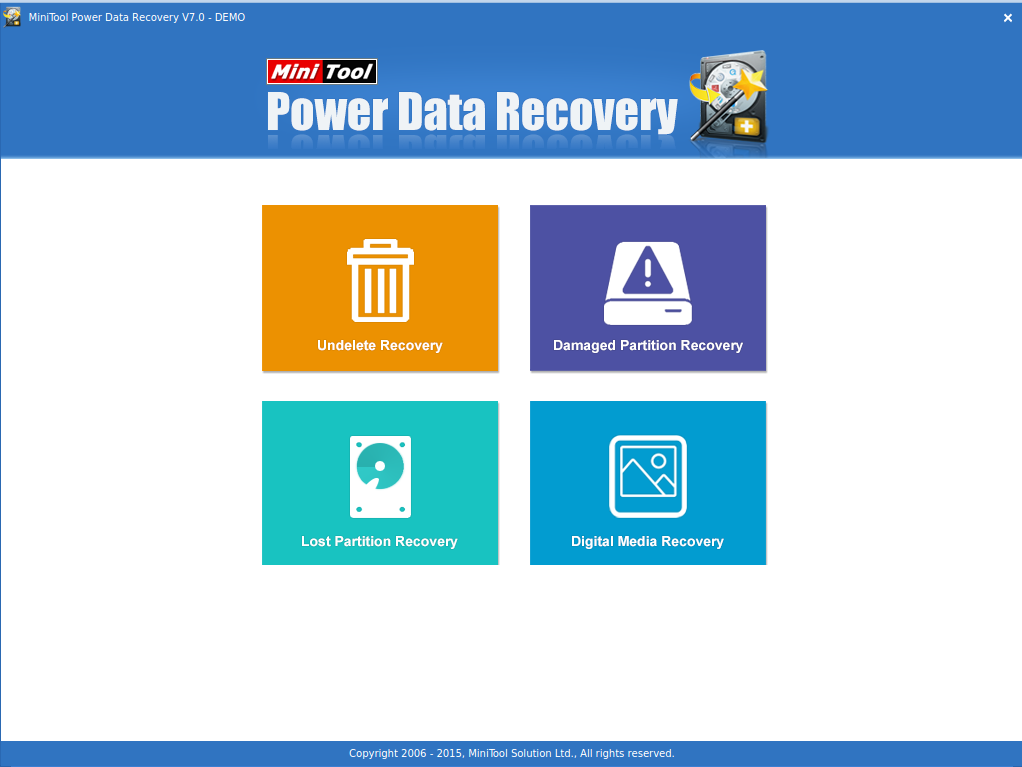 minitool power data recovery main interface