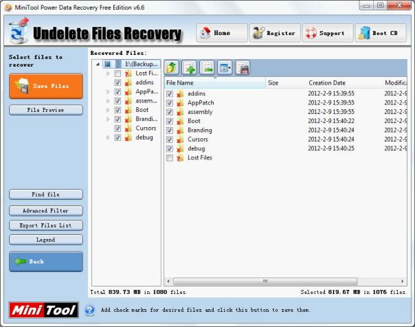 Recover deleted files in Windows 7 completely and safely.