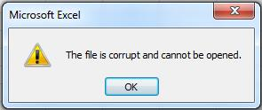 file corrupted