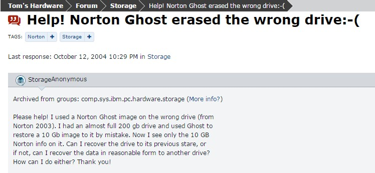 Recover Ghost files 1