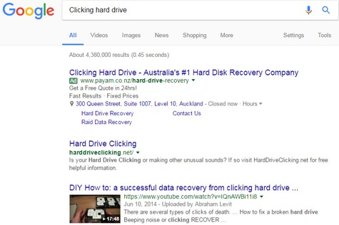 Clicking hard drive recovery 1