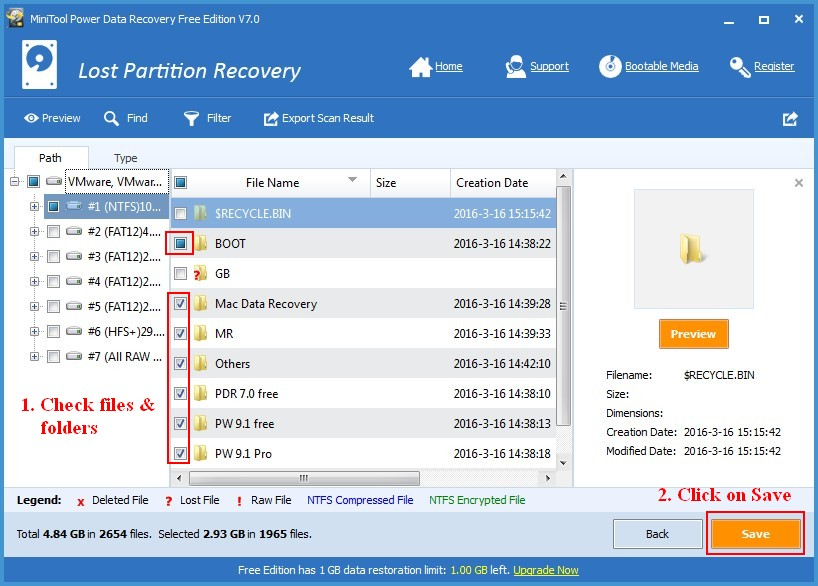 Recover data lost by DiskPart clean 4