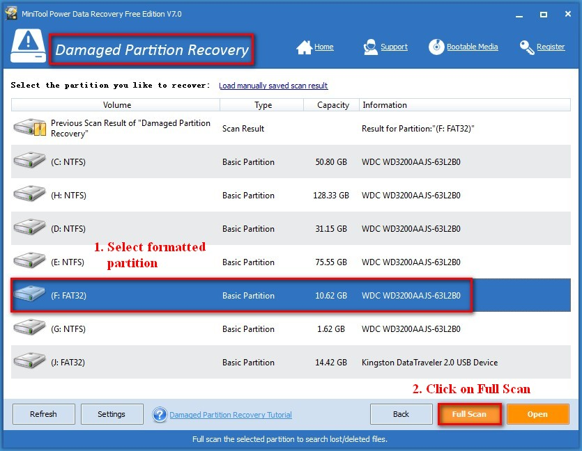 Recover data lost by DiskPart clean 5