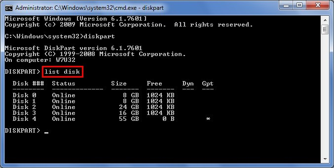 Recover data lost by DiskPart clean 7