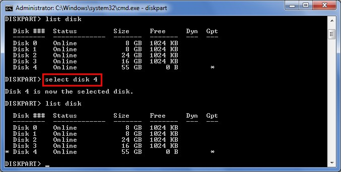 Recover data lost by DiskPart clean 8