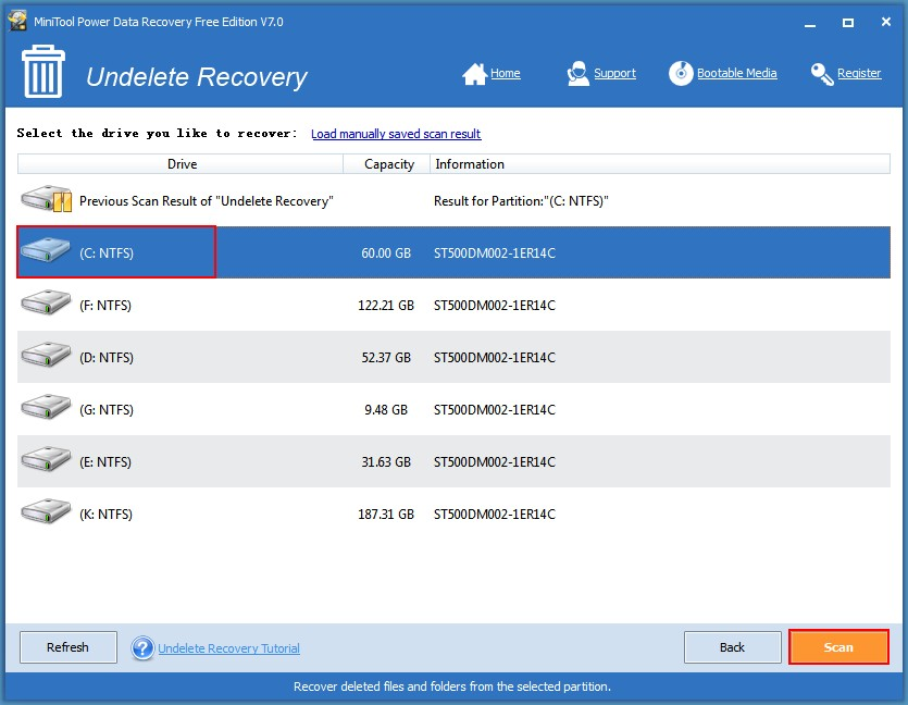 Recover deleted Outlook files 3