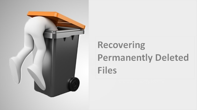 Recovering permanently deleted files 1